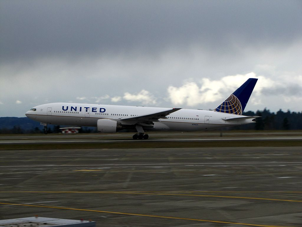 United Airlines Fleet N796UA Boeing 777 222ER cnserial number 26931112 at Seattle Tacoma International Airport