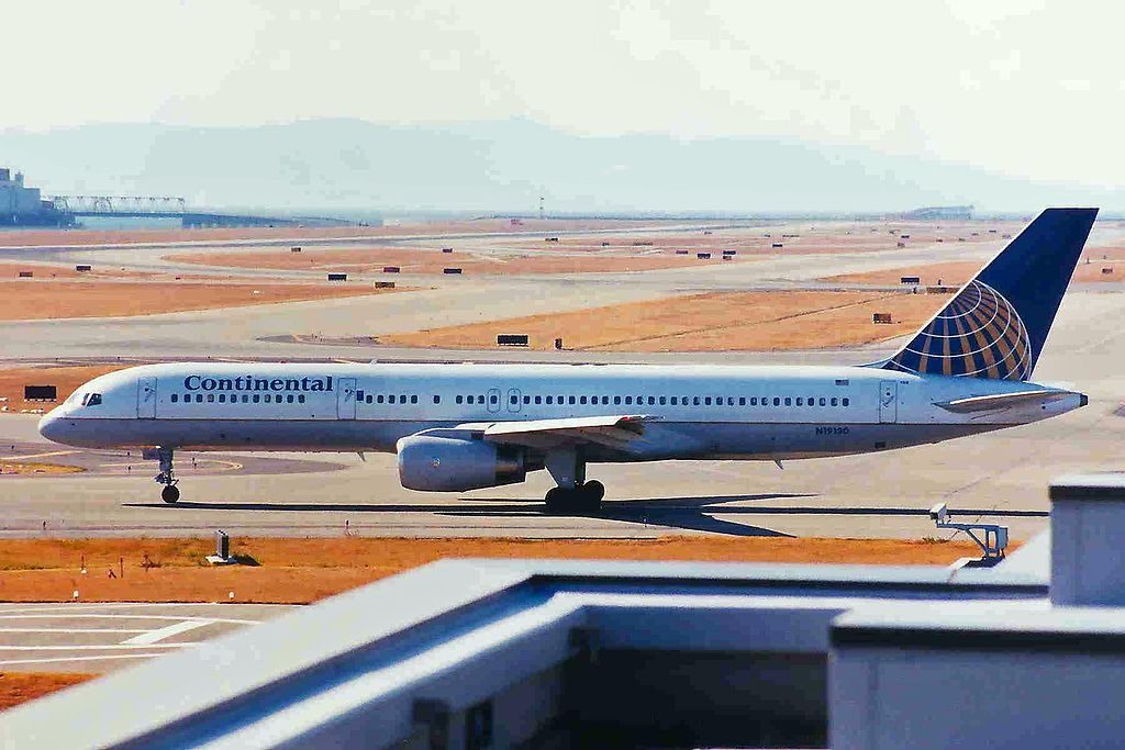 United Airlines Fleet (ex-Continental Micronesia) N19130 Boeing 757-224 cn:serial number- 28970:799 taxiing at Kansai International Airport (IATA- KIX, ICAO- RJBB)