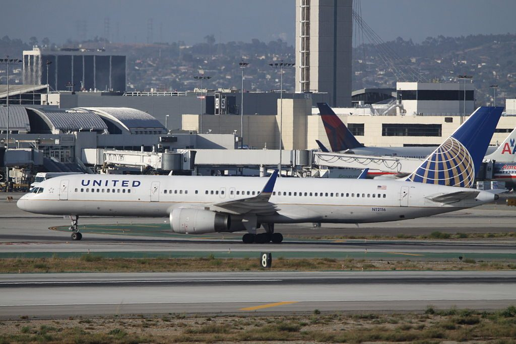 United Airlines Fleet (ex-Continental) N12116 Boeing 757-224(wl) cn:serial number- 27558:702 taxiing at At Los Angeles International