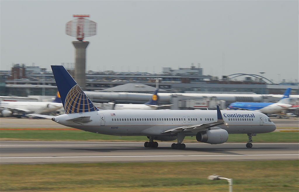 United Airlines Fleet (ex-Continental) N13110 Boeing 757-224 cn:serial number- 27300:650 takeoff and landing at Heathrow Airport (IATA- LHR, ICAO- EGLL)