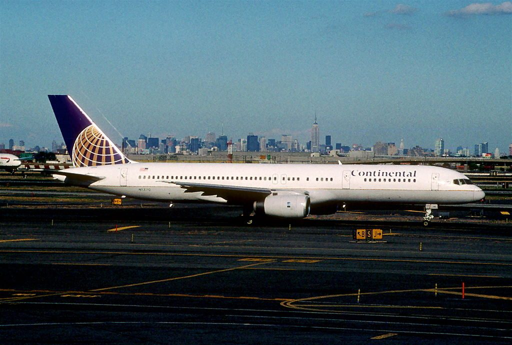 United Airlines Fleet (ex-Continental) N13110 Boeing 757-224 cn:serial number- 27300:650 takeoff and landing at Newark Liberty International Airport