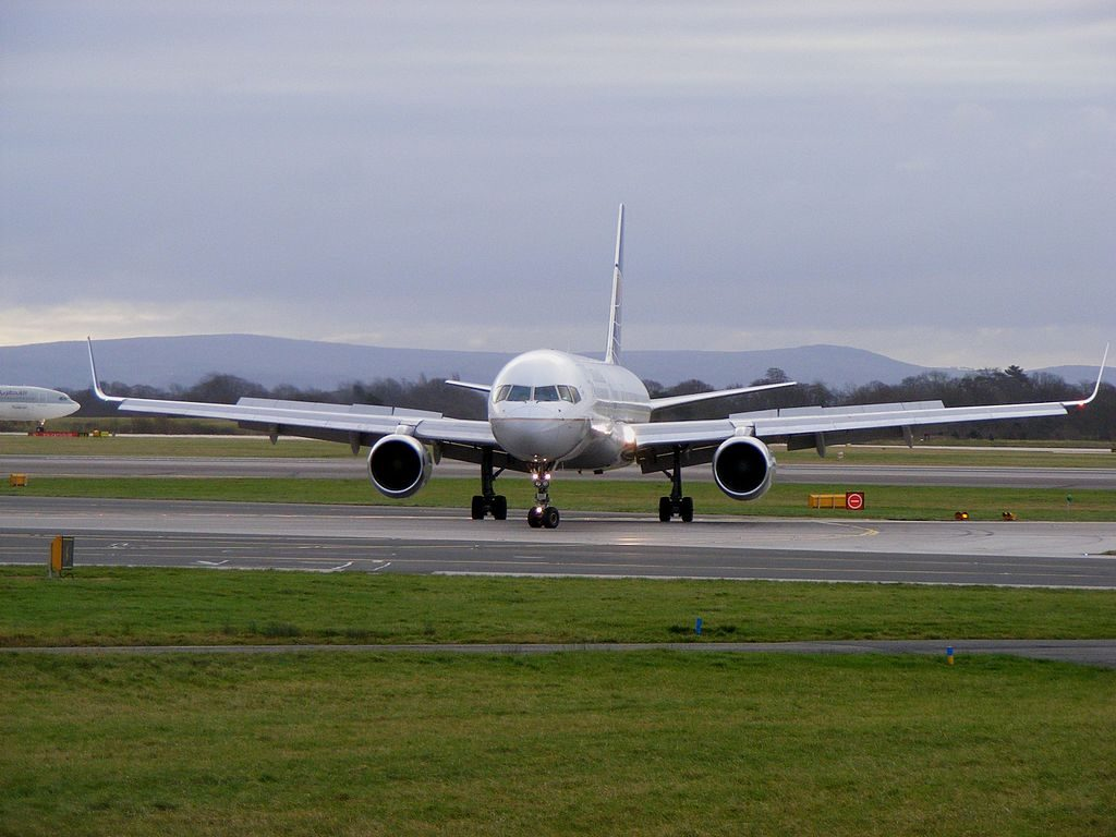 United Airlines Fleet (ex-Continental) N18112 Boeing 757-224 cn:serial number- 27302:653 taxiing at Manchester Airport