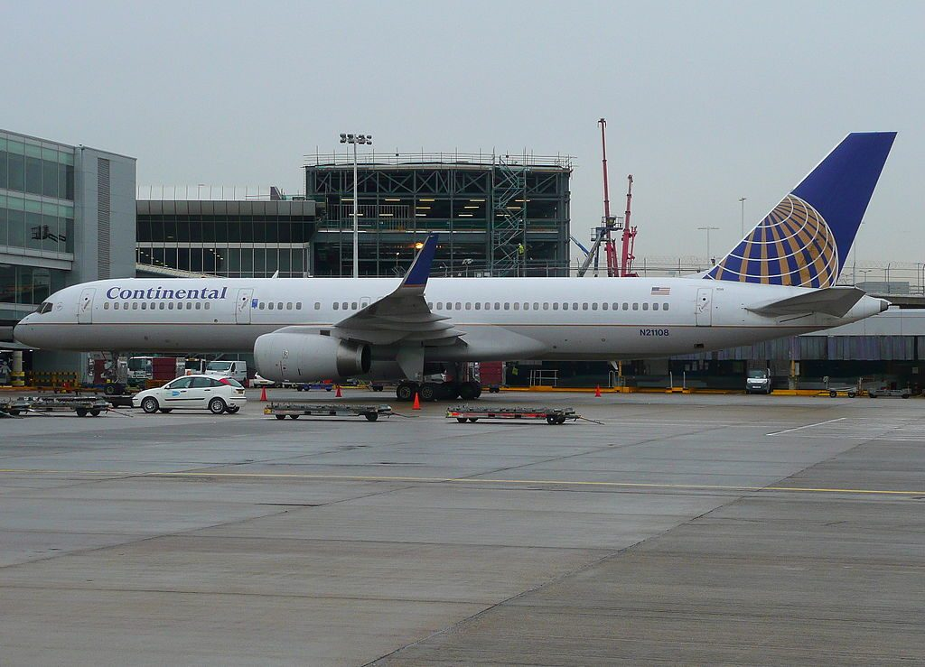 United Airlines Fleet (ex-Continental) N21108 Boeing 757-224 cn:serial number- 27298:645 parking at LHR