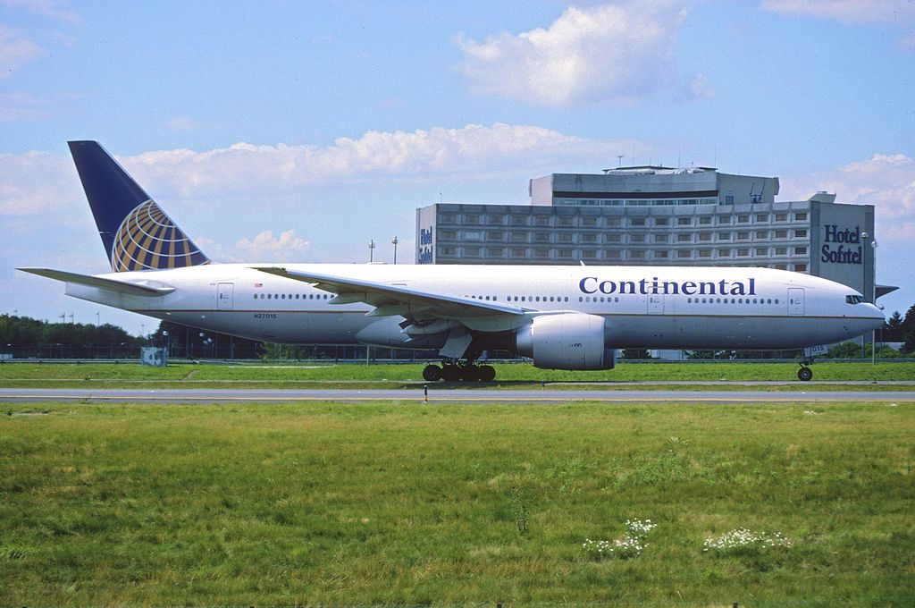 United Airlines Fleet ex Continental N27015 Boeing 777 224ER cnserial number 28678273 at Paris Charles de Gaulle Airport