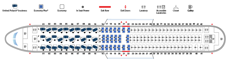 United Airlines Wide Body Aircraft Boeing 767 300ER Seat map version 3 Seat map 30184 configuration