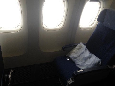 United Airlines Widebody Aircraft Boeing 777 200ER Economy Plus Premium Eco Cabin Window Seats Photos