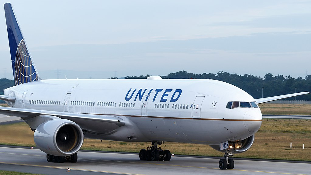 United Airlines Widebody Aircraft Boeing 777 200ER N795UA at Frankfurt Airport Germany