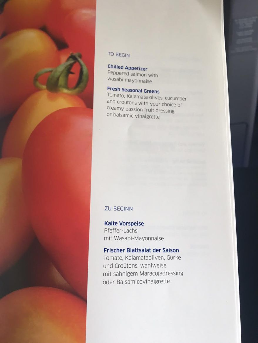 United Airlines Widebody Aircraft Fleet Boeing 767 400ER Business FirstPolaris Business Cabin MealFood Menu Book Option Photos