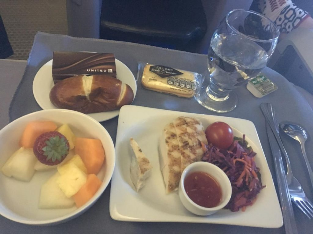 United Airlines Widebody Aircraft Fleet Boeing 767 400ER Business FirstPolaris Business Cabin Pre Arrival MealFood Services chilled chicken