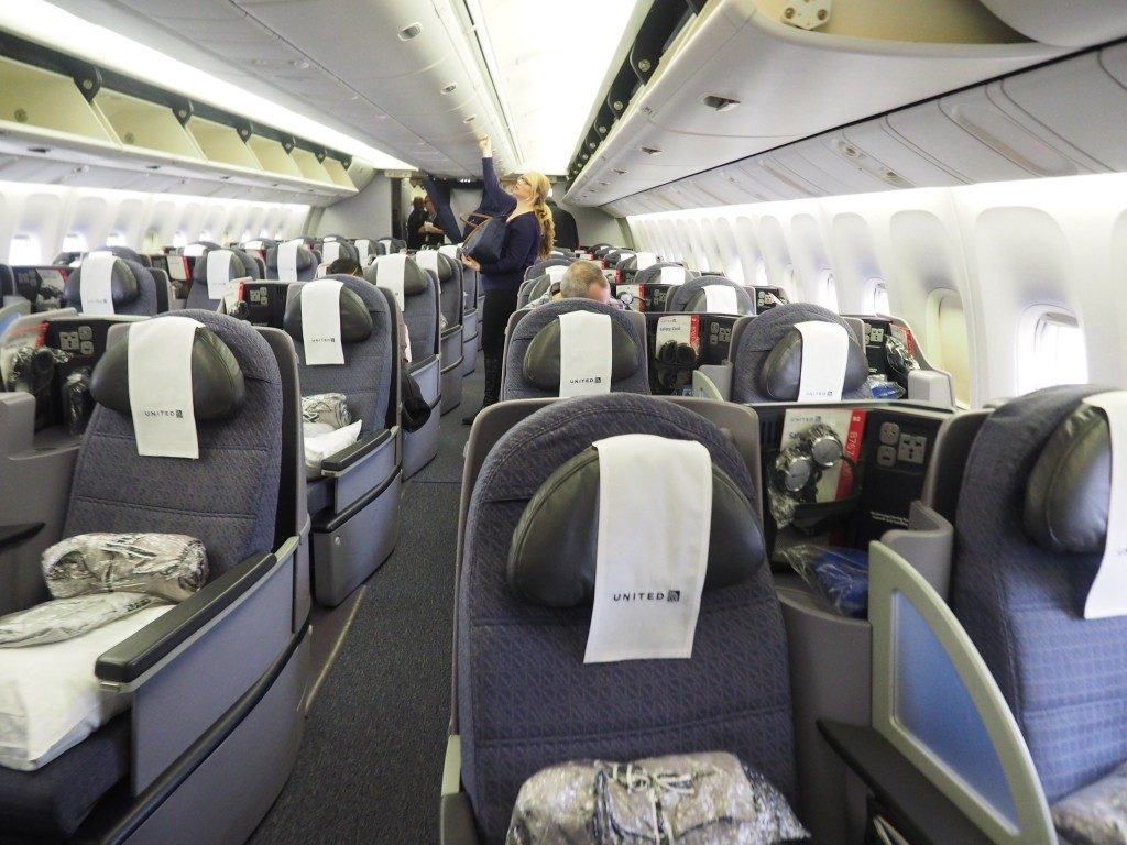 United Airlines Widebody Aircraft Fleet Boeing 767 400ER PolarisBusiness First Cabin Inside and Seats Layout