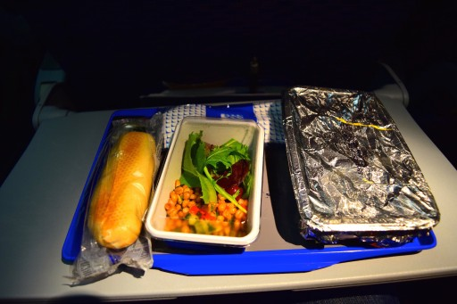 United Airlines Widebody Aircraft Fleet Boeing 767 400ER Standard Economy Class Cabin Inflight Amenities Meal service
