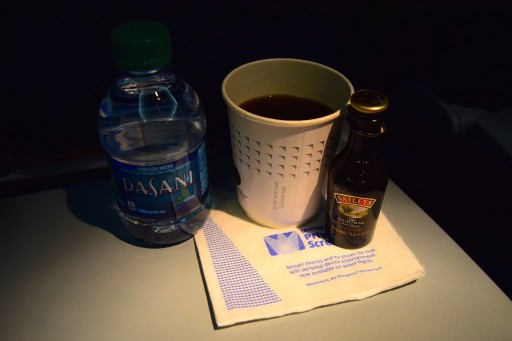United Airlines Widebody Aircraft Fleet Boeing 767 400ER Standard Economy Class Cabin Inflight Amenities coffee and Bailey's services