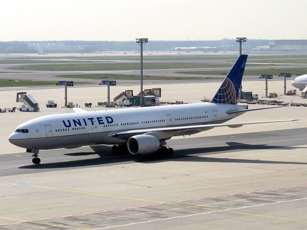 Widebody Aircraft Boeing 777 222 United Airlines Fleet N769UA at FRA Frankfurt Rhein Main Germany
