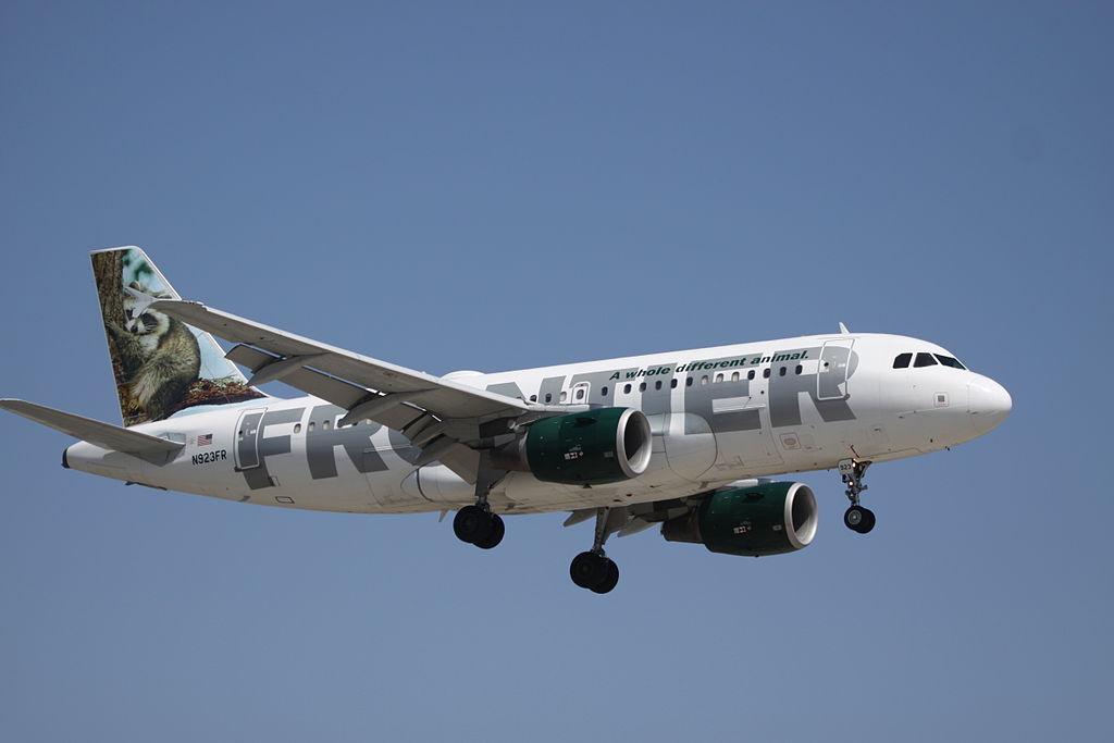 Airbus A319 100 Narrow Body Frontier Airlines Fleet N923FR Rudy raccoon at Orange County John Wayne