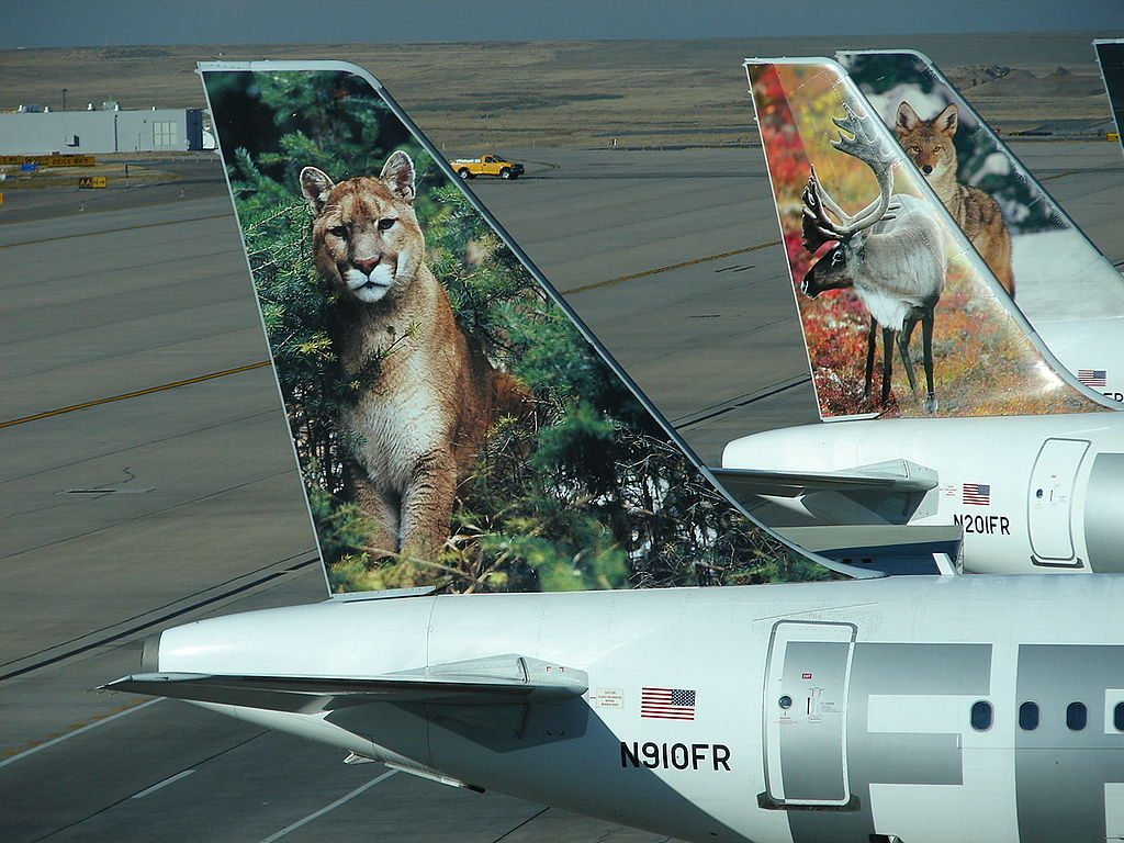 Airbus A319 111112 cnserial number 1781 N910FR Sal the Cougar Frontier Airlines Aicraft Fleet tail livery color