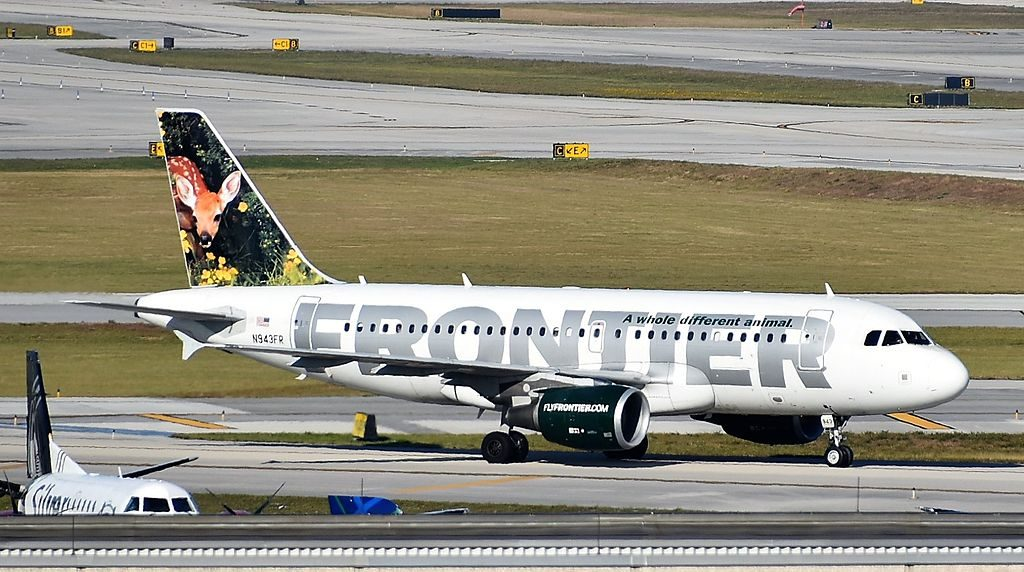 Airbus A319 112 Cloe the deer fawn Frontier Airlines N943FR at Fort Lauderdale–Hollywood International Airport