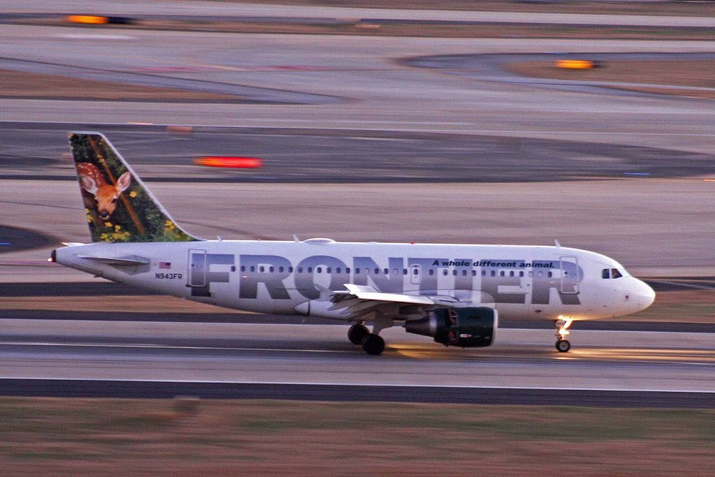Airbus A319 112 Cloe the deer fawn Frontier Airlines N943FR at Hartsfield–Jackson Atlanta International Airport