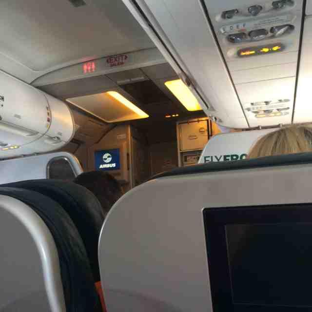 Airbus A320 200 Frontier Airlines inflight cabin photos