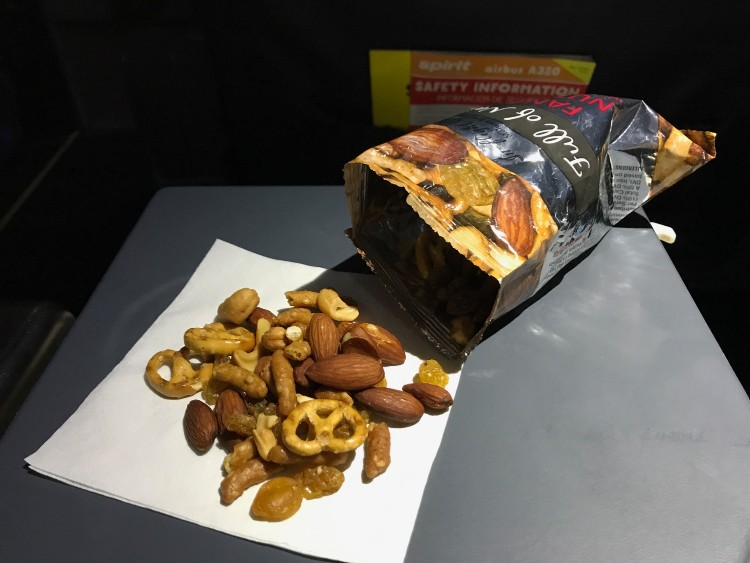 Airbus A320 200 Spirit Airlines Economy Cabin Inflight Buy on Board Services Snacks and Drinks Menu 5
