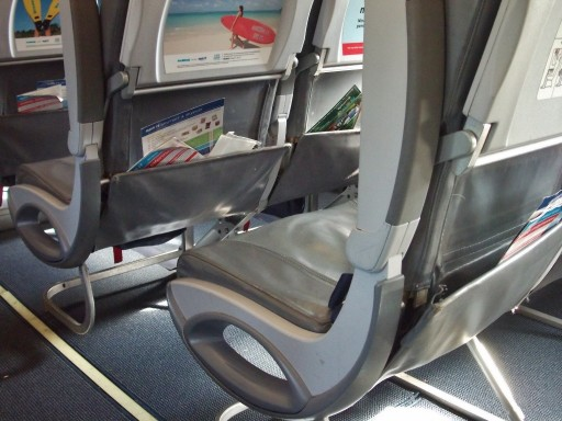 Airbus A320 200 Spirit Airlines Economy Cabin Standard Coach Seats Seatback Pocket Content