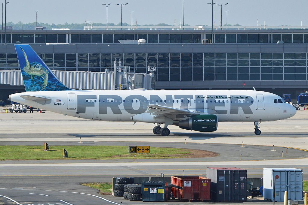 Airbus A320 214 N210FR Sheldon Frontier Airlines Aircraft Fleet at Washington Dulles Airport