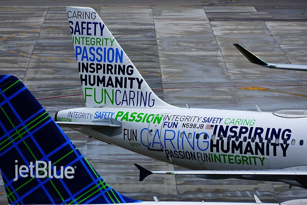 Airbus A320 232 N598JB JetBlue Airways Bluemanity Inspiring Humanity Special Livery at Fort Lauderdale – Hollywood International Airport