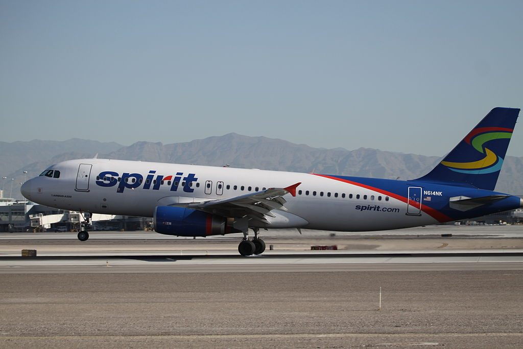 Airbus A320 232 Spirit Airlines Fleet N614NK at Las Vegas McCarran International Airport