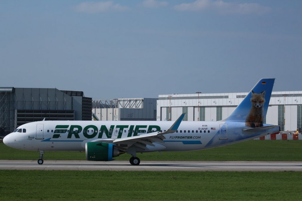 Airbus A320neo Frontier Airlines Aircraft Fleet N329FR MSN 8135 Trixie the Fox