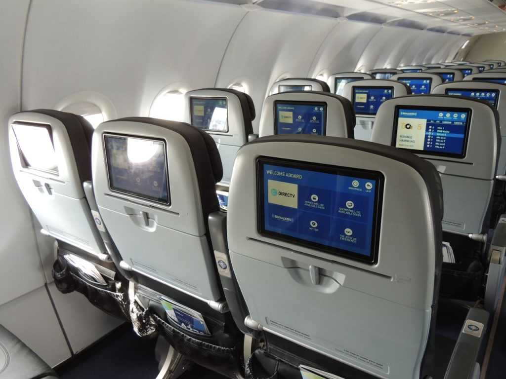 Airbus A321 200 JetBlue Airways Economy Cabin Standard Coach Seats Row Layout