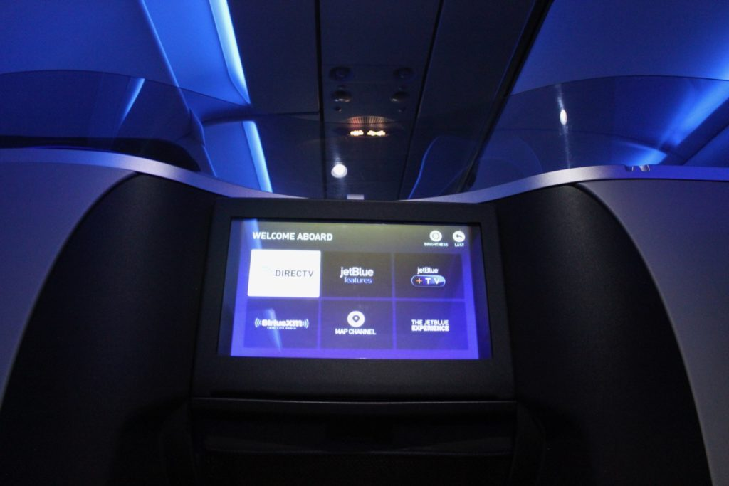 Airbus A321 200 JetBlue Airways Mint Suite Experience Business Class Cabin HD Entertainment Screen