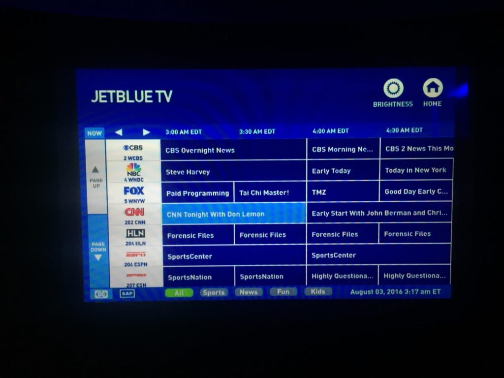 Airbus A321 200 JetBlue Mint Suite Business Class Inflight Services Entertainment IFE system live TV