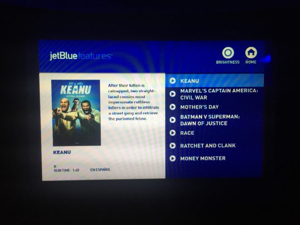 Airbus A321 200 JetBlue Mint Suite Business Class Inflight Services Entertainment IFE system movies selection