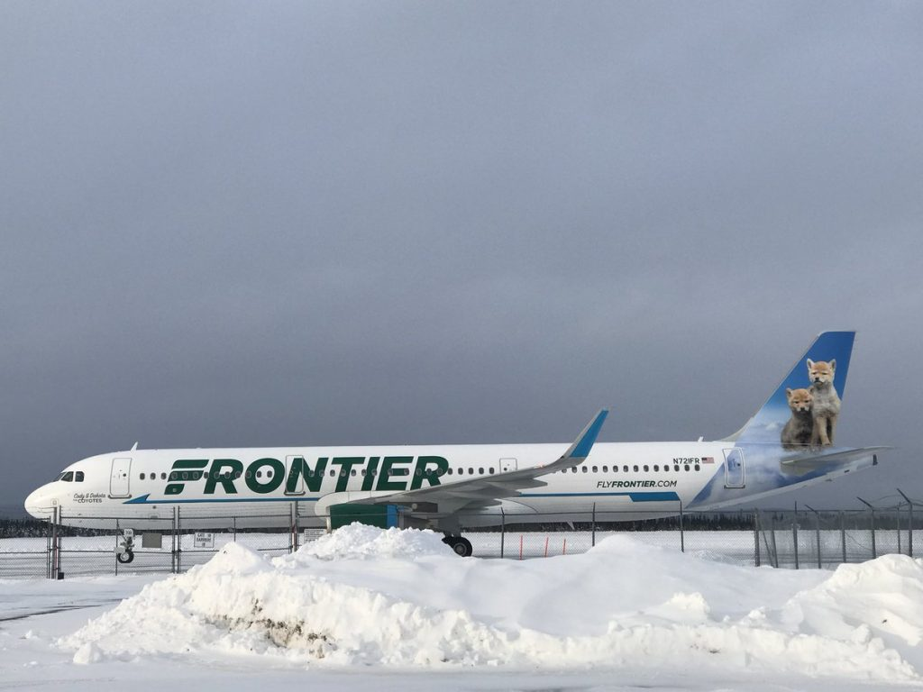 Airbus A321 200 N721FR Frontier Airlines Cody Dakota the Coyotes
