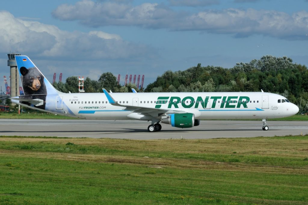 Airbus A321 211SL Frontier Airlines Aircraft Fleet N714FR MSN 7294 Cubby the Bear
