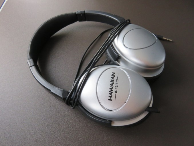 Airbus A330 200 Hawaiian Airlines Domestic First Class Cabin Inflight Amenities Noise Cancelling Headphones