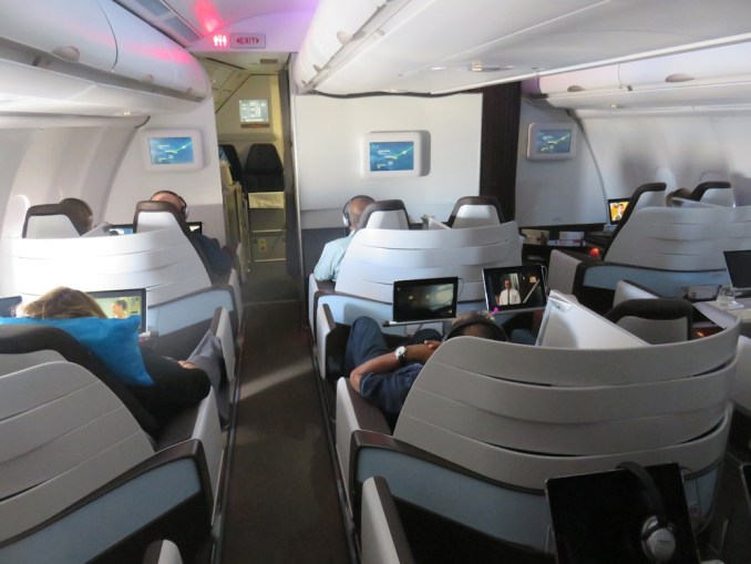 Airbus A330 200 Hawaiian Airlines Domestic First Class Cabin Inflight Backview
