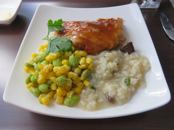 Airbus A330 200 Hawaiian Airlines Domestic First Class Cabin Meals Food Lunch Main Course Menu