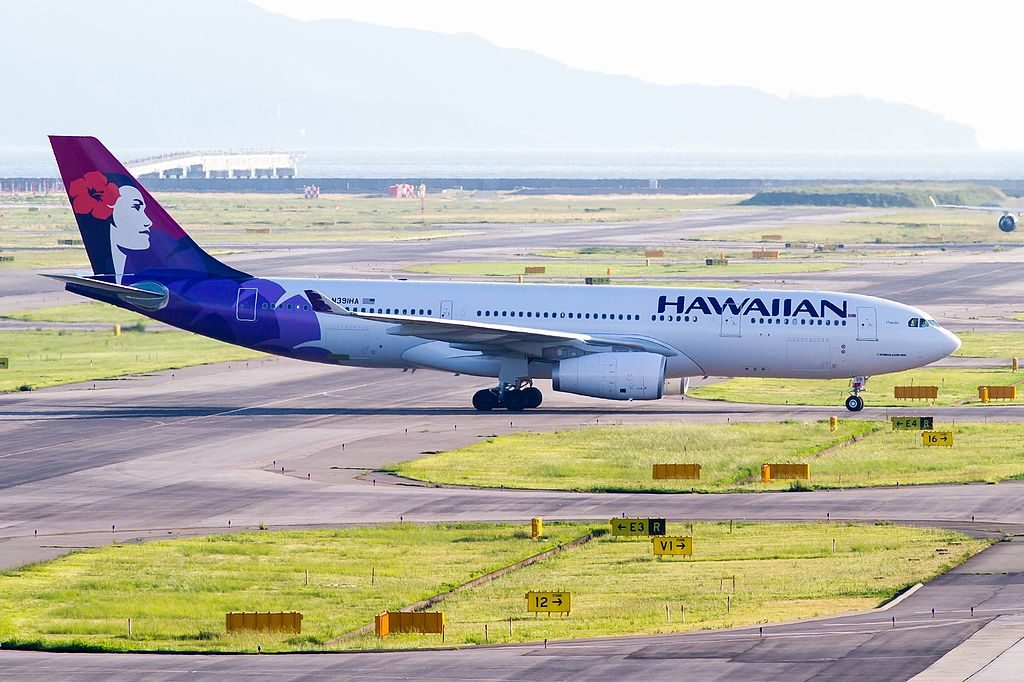 Airbus A330 200 N391HA 22Hokulei22 of Hawaiian Airlines at Kansai International Airport