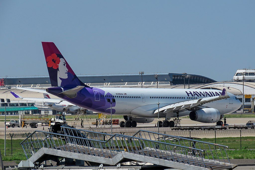 Airbus A330 243 cnserial number 1488 Hawaiian Airlines Fleet 2014 N396HA Keoe at Beijing Capital International Airport IATA PEK ICAO ZBAA