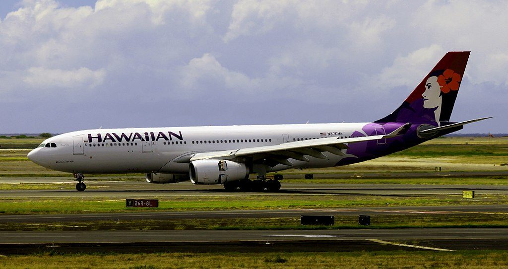Airbus A330 243 cnserial number 1511 Hawaiian Airlines 2014 to date as N370HA 22Kuamoʻo22 at Honolulu International Airport