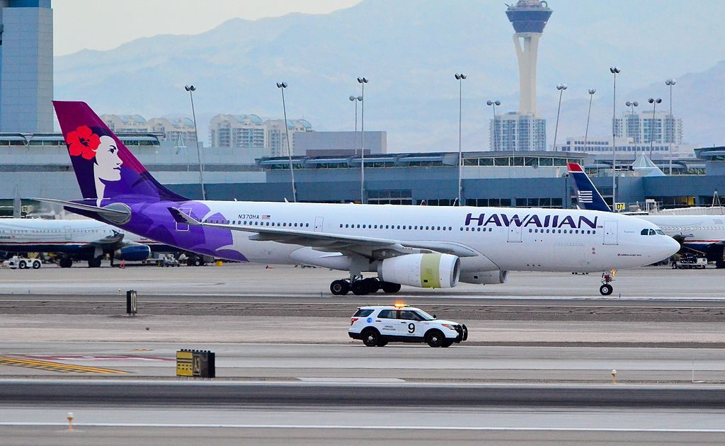 Airbus A330 243 cnserial number 1511 Hawaiian Airlines 2014 to date as N370HA 22Kuamoʻo22 at Las Vegas McCarran International Airport LAS KLAS USA