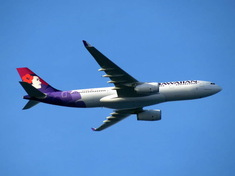 Airbus A330 243 cnserial number 1672 Hawaiian Airlines 2015 N379HA Pau ahi departing Honolulu International Airport