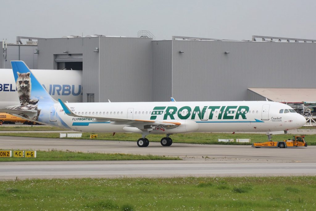 Crockett the Raccoon livery Airbus A321 211SL N720FR Frontier Airlines