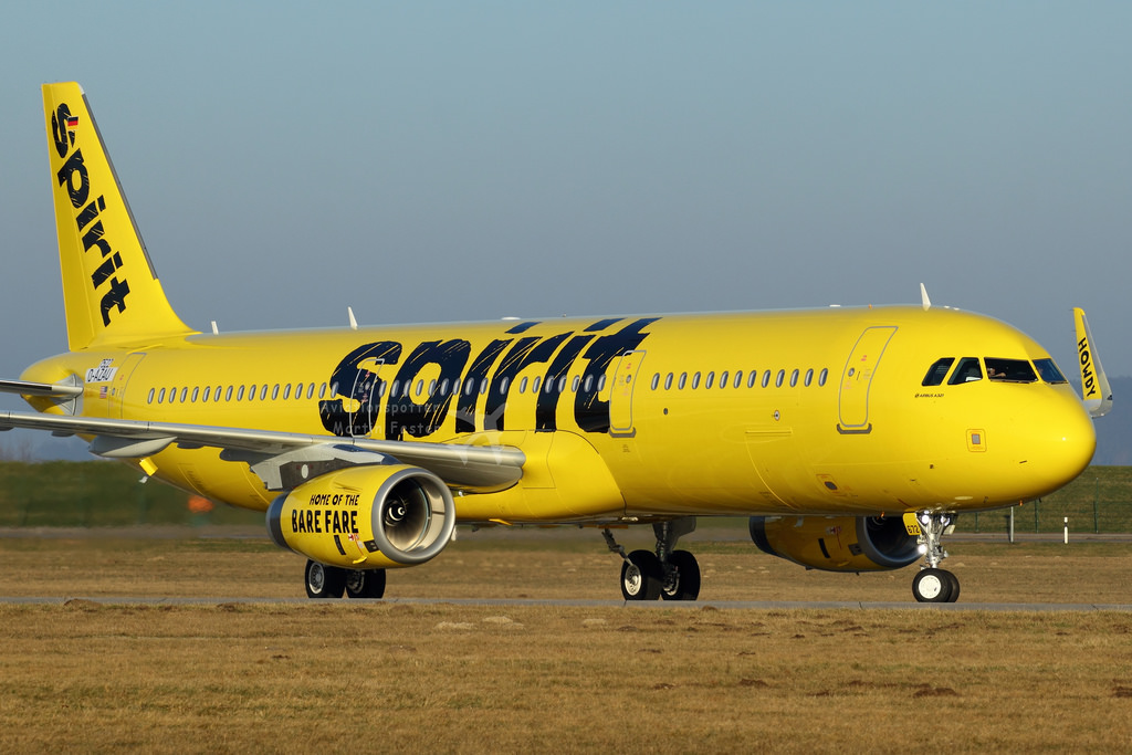 D AZAU Spirit Airlines N672NK Airbus A321 231SL MSN 7522 at Hamburg Finkenwerder Airport