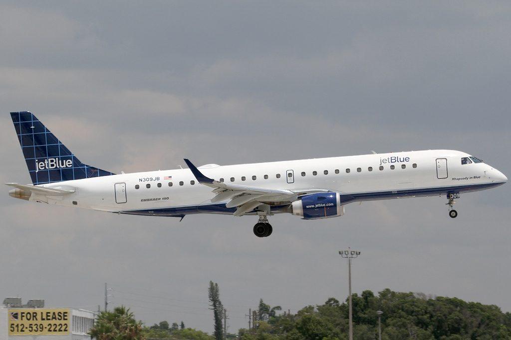 Embraer ERJ 190 100IGW 190AR JetBlue Airways N309JB Rhapsody in Blue at Fort Lauderdale Hollywood International FLL KFLL