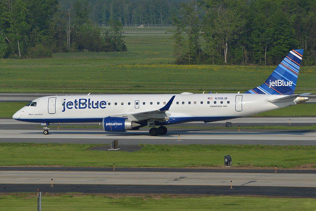 Embraer ERJ190 100AR N358JB Blues on First JetBlue Airways Regional Jet Aircraft Fleet at Washington Dulles Airport