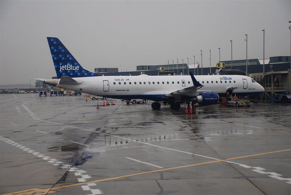 Embraer ERJ190 100IGW N281JB jetBlue Airways Lady In Blue parking at JFK Airport
