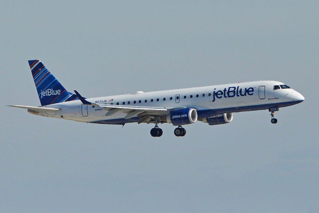 Embraer ERJ190 100IGW N373JB Best in Blue JetBlue Airways Regional Jet Aircraft Fleet Arriving at JFK Airport