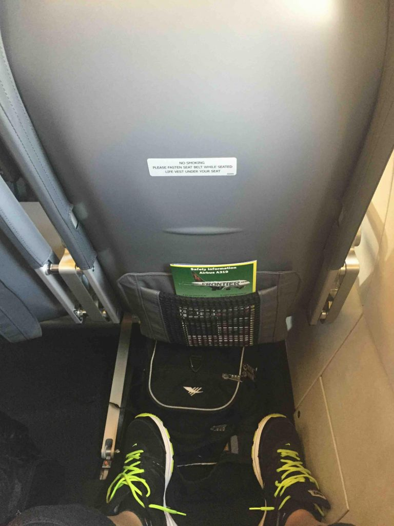 Frontier Airlines Airbus A319 100 cabin exit row seats pitch legroom