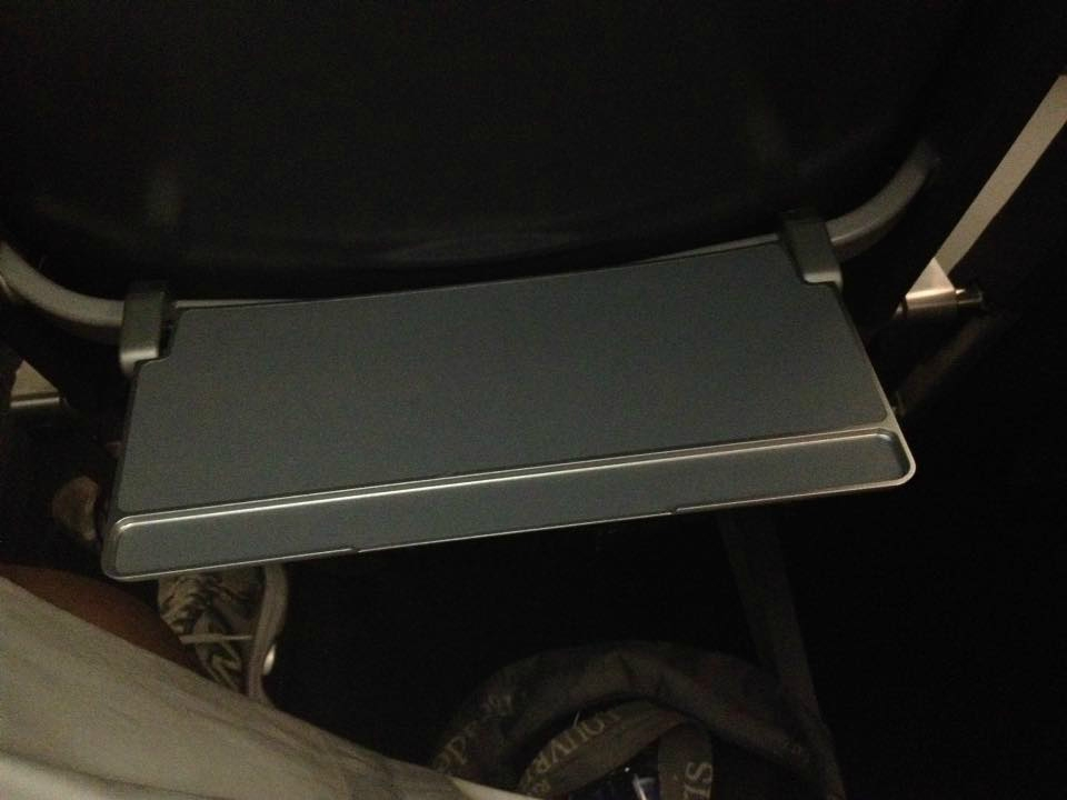 Frontier Airlines Airbus A319 100 cabin tiny tray on new interior seats